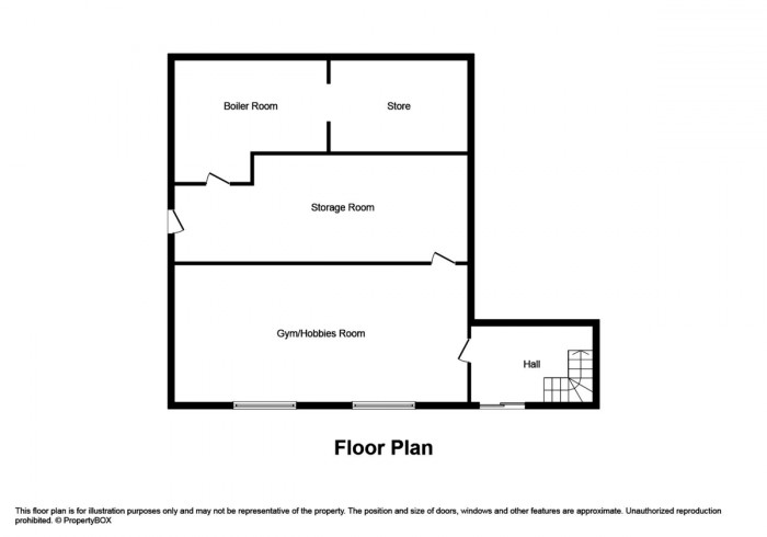 Floorplan for The Avenue, Ystrad Mynach